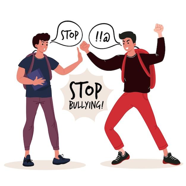 Arrêtez Le Concept De L'intimidation Vecteur gratuit