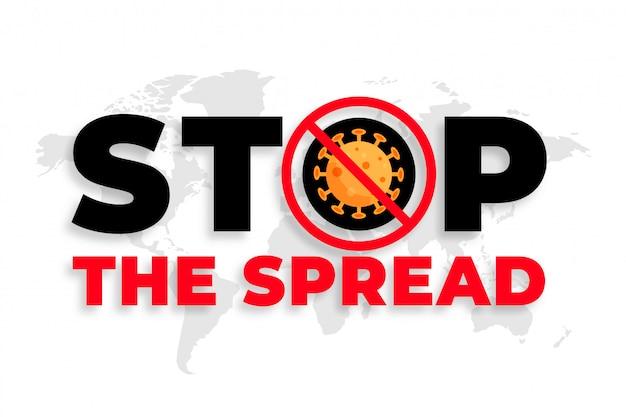 Arrêtez La Conception D'arrière-plan Du Message De Propagation Du Coronavirus Vecteur gratuit