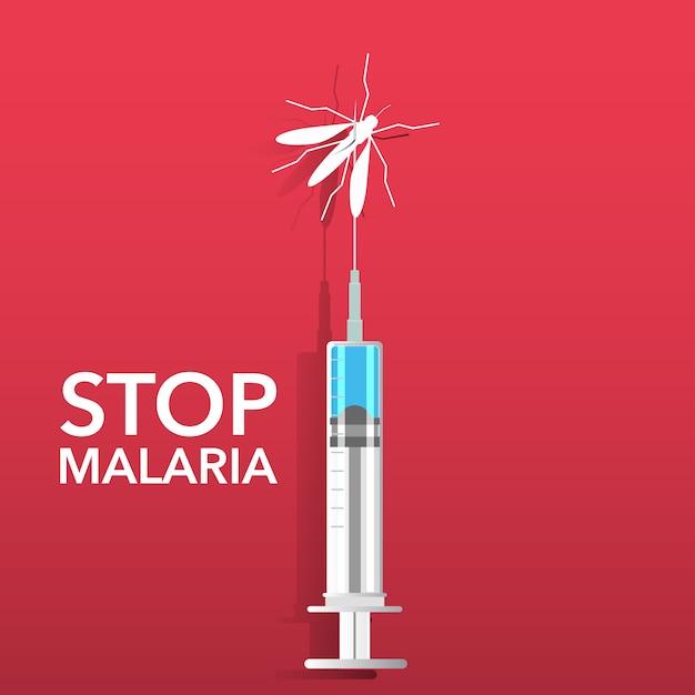 Arrêtez le fond du paludisme Vecteur gratuit