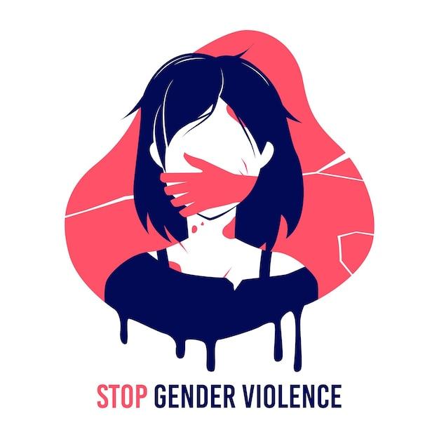 Arrêtez La Violence De Genre Vecteur Premium