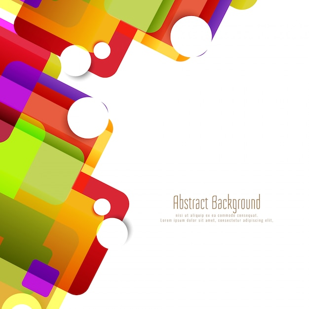 Arrière-plan abstrait géométrique coloré Vecteur gratuit
