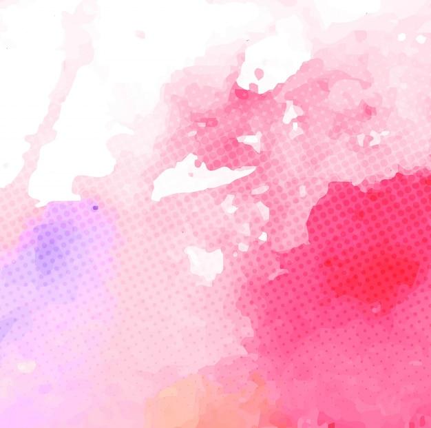 Arrière-plan Avec L'aquarelle Rouge Tache Texture | Vecteur Gratuite
