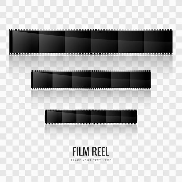Arrière-plan de la bobine de film moderne Vecteur gratuit