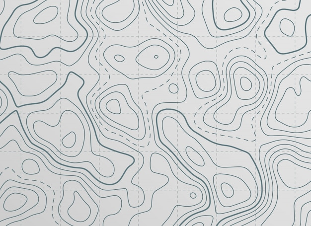 Arrière-plan De Carte De Contour Topographique Vecteur gratuit