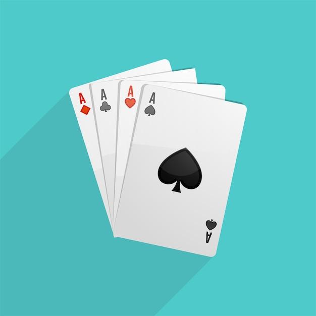 L'arrière-plan des cartes de poker Vecteur gratuit