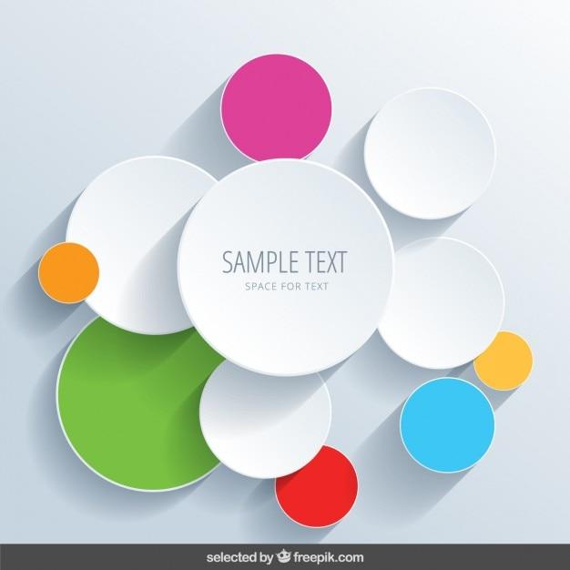 Arrière-plan avec des cercles colorés Vecteur gratuit