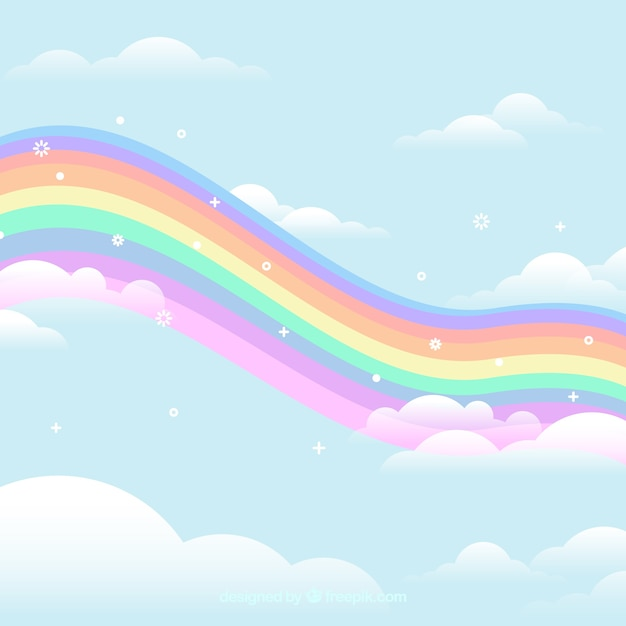 Arrière-plan coloré arc en ciel Vecteur gratuit