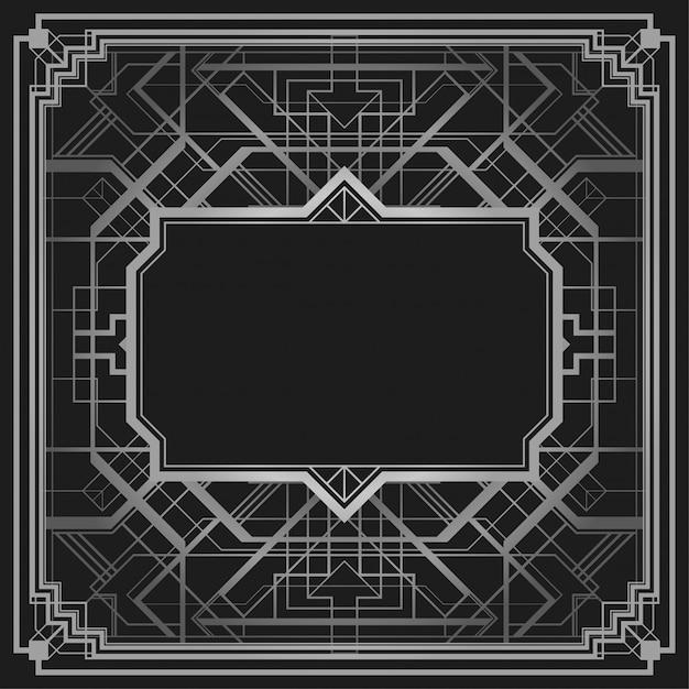 Arrière-plan de conception bordure style géométrique style art déco Vecteur Premium