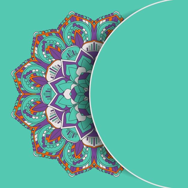 Arrière-plan de conception décorative mandala Vecteur gratuit
