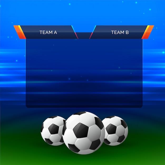 Arrière-plan de conception de graphique de football Vecteur gratuit
