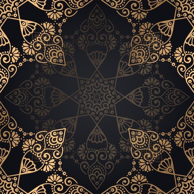 Arrière-plan de conception de luxe mandala ornemental Vecteur gratuit