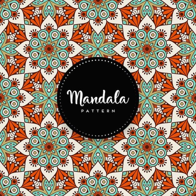Arrière-plan De Conception De Luxe Mandala Ornemental Vecteur Premium