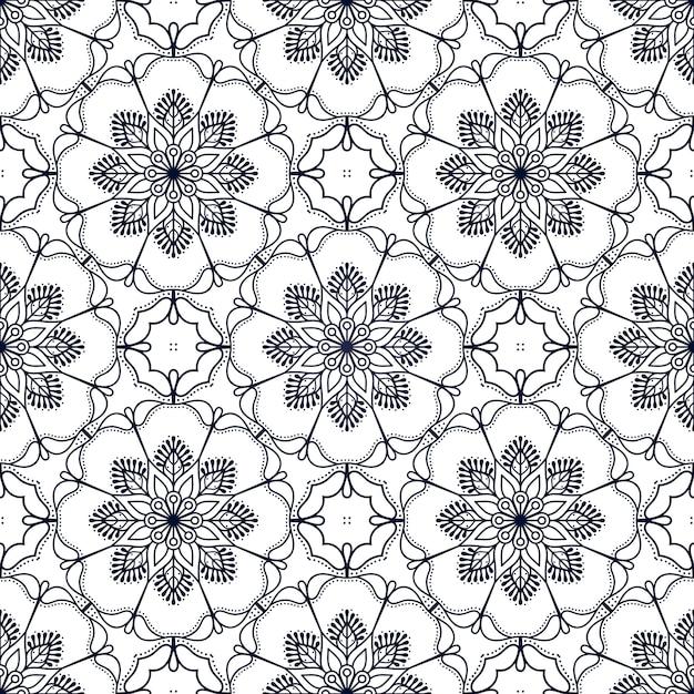 Arrière-plan de conception de mandala ornement de luxe en couleur or Vecteur gratuit
