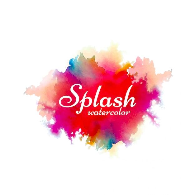 Arrière-plan de conception splash aquarelle dessiné à la main Vecteur Premium