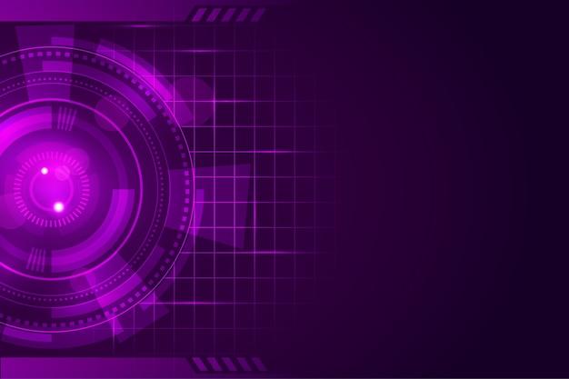 Arrière-plan De Conception Technologique Vecteur gratuit