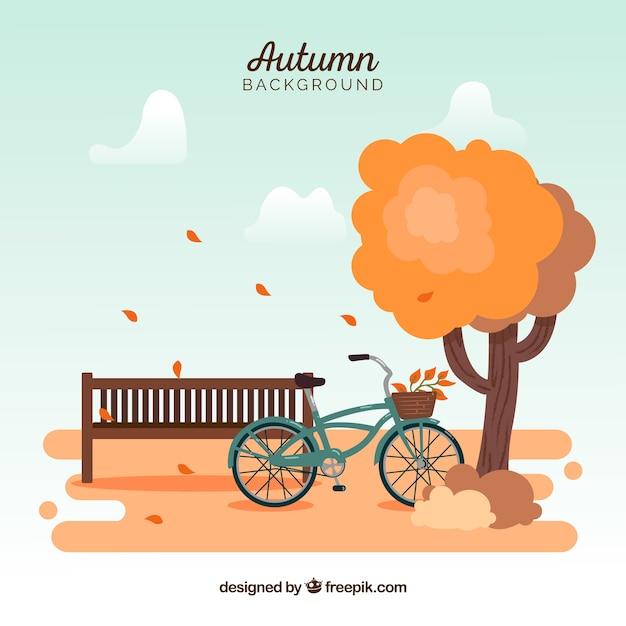 Arrière-plan créatif automne Vecteur gratuit