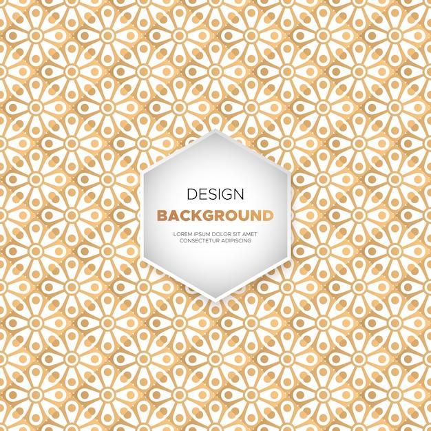 Arri re plan de conception de mandala ornement de luxe en for Plan de conception