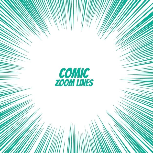 arrière-plan de lignes de zoom de bande dessinée Vecteur gratuit
