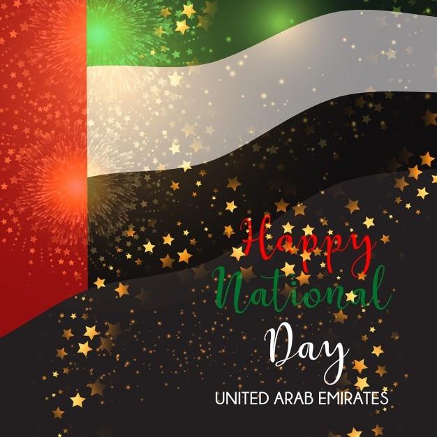 Arrière-plan décoratif pour la célébration emirats arabes unis journée nationale Vecteur gratuit