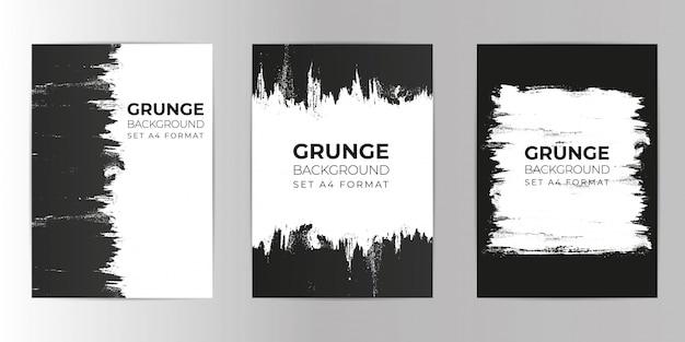 Arrière-plan dessiné à la main grunge set format a4 Vecteur Premium