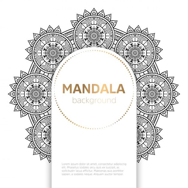 Arrière Plan Du Modèle Mandala Noir Et Blanc Télécharger