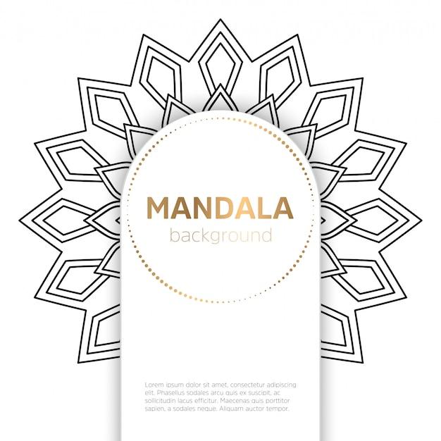 Arrière-plan du modèle mandala noir et blanc Vecteur gratuit