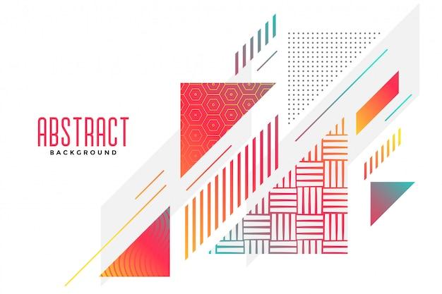 Arrière-plan élégant de forme triangle abstraite Vecteur gratuit