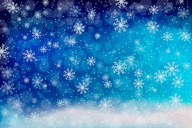 Arrière-plan flou d'hiver Vecteur gratuit