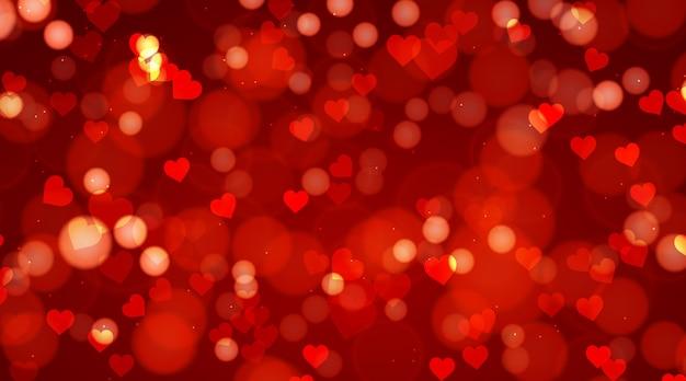 Arrière-plan Flou De La Saint-valentin Vecteur gratuit