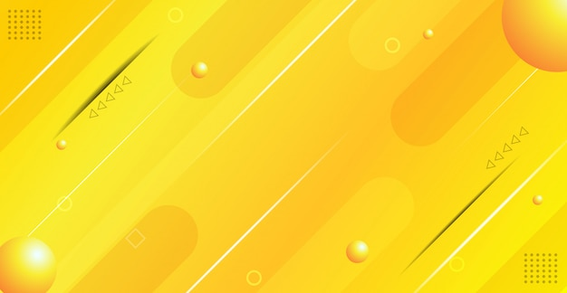 Arrière-plan géométrique gradient jaune résumé Vecteur Premium