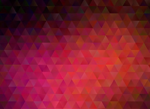 Arrière-plan graphique dégradé multicolore géométrique rouge foncé froissé triangulaire low poly. Vecteur Premium