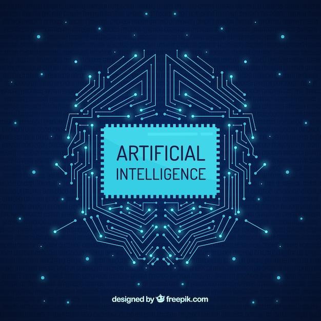 Arrière-plan de l'intelligence artificielle dans un style abstrait Vecteur gratuit