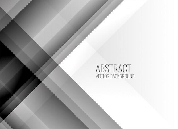 Arrière-plan de lignes abstraites gris propre Vecteur gratuit