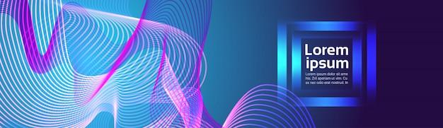 Arrière-plan de lignes abstraites vagues colorées Vecteur Premium