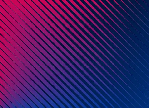 Arrière-plan de lignes diagonales vibrantes Vecteur gratuit