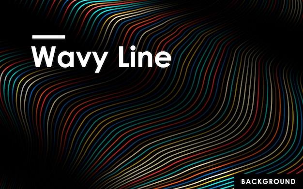 Arrière-plan de lignes ondulées de couleur abstraite Vecteur Premium