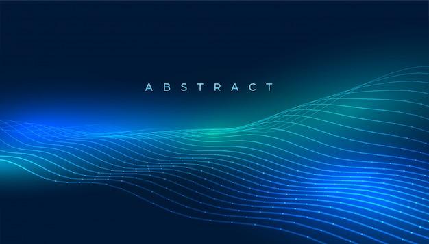 Arrière-plan De Lignes De Technologie Avec Des Lumières Rougeoyantes Bleues Vecteur gratuit