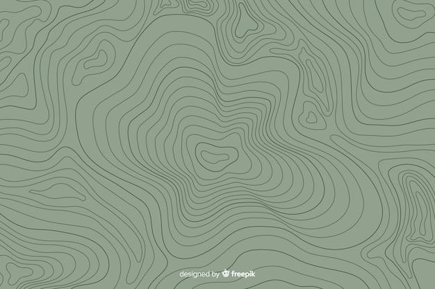 Arrière-plan de lignes topographiques Vecteur gratuit