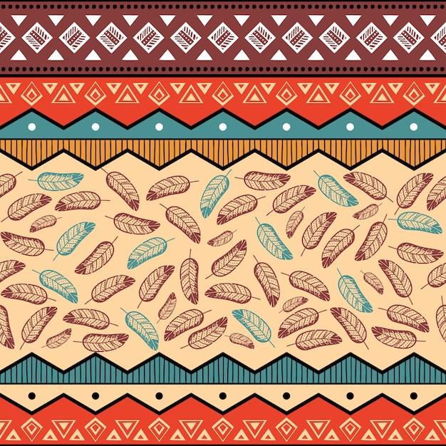 Arrière-plan de modèle ethnique tribal Vecteur gratuit