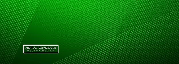 Arrière-plan De Modèle En-tête élégant Lignes Créatives Verts Vecteur gratuit