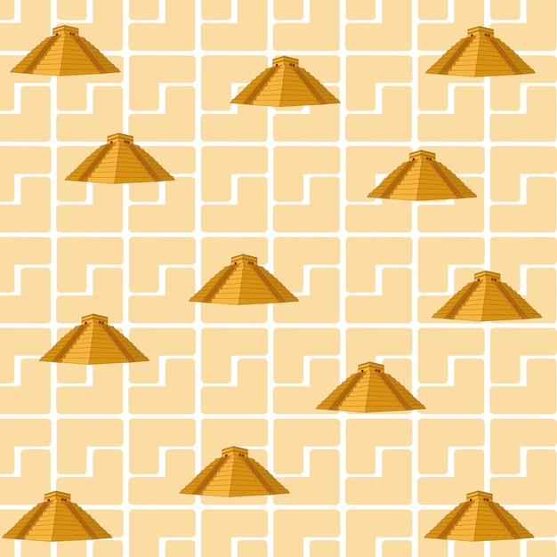 Arrière-plan de motifs culta maya Vecteur Premium