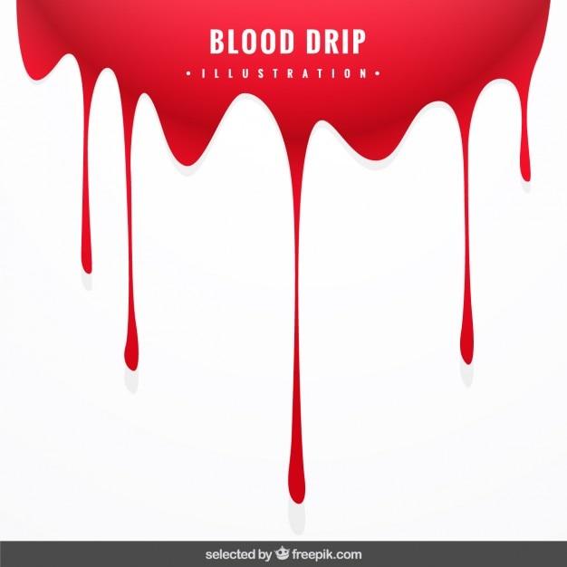 Arrière-plan avec sang goutte à goutte Vecteur gratuit