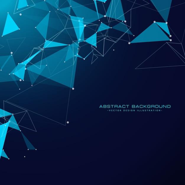 Arrière-plan Technologique Avec Des Formes Triangulaires Et Toiles Métalliques Vecteur gratuit