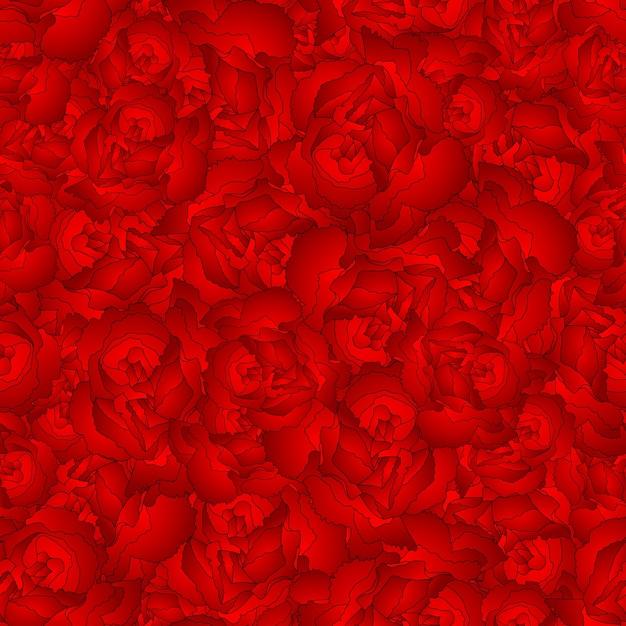 Arrière-plan transparent de fleur d'oeillet rouge Vecteur Premium