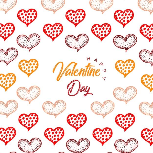 Arrière-plans de coeurs saint valentin dessinés à la main Vecteur gratuit