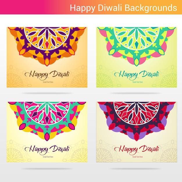 Arrière-plans heureux de diwali Vecteur Premium