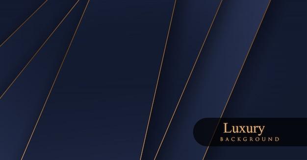 Arrière-plans De Luxe Royal Doré Et Bleu Vecteur Premium