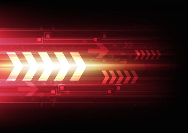 Arrow tech background Vecteur gratuit