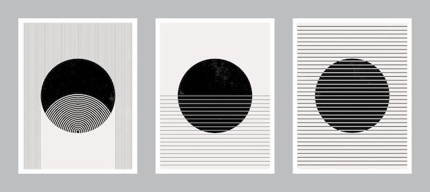 Art De L'affiche Moderne Pour L'impression. Art Mural Abstrait. Art De Décoration Intérieure Numérique. Vecteur Premium