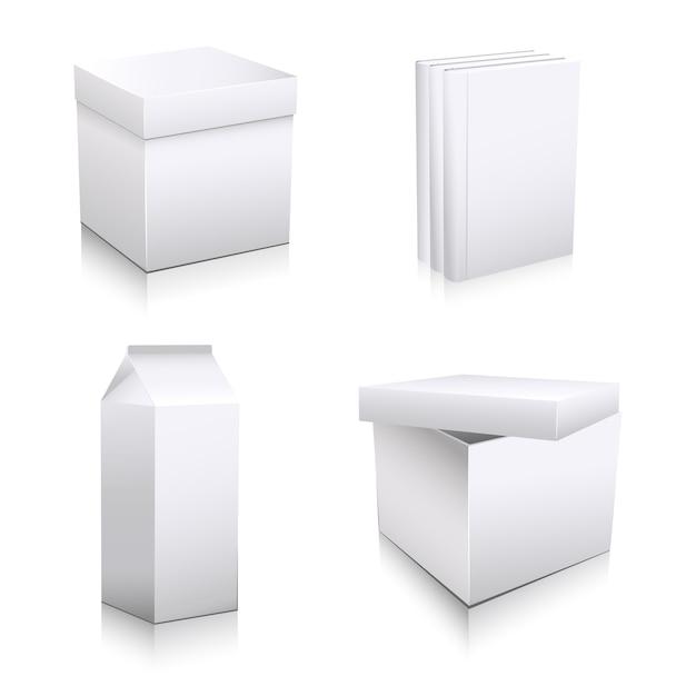 Art box mock up design Vecteur Premium
